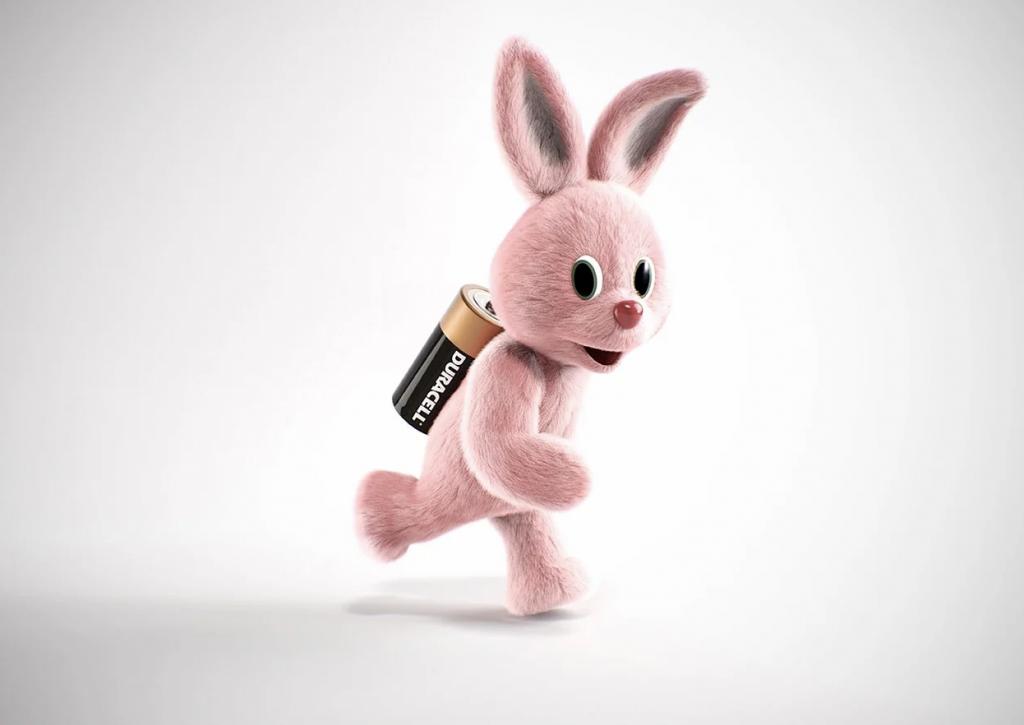 Duracell Hase mit vollen Batterien